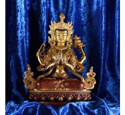 Buddhastatuen aus Nepal